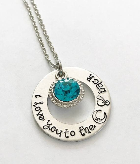 Love you to the moon and back - Hand stamped - The Foxtrot Clothing