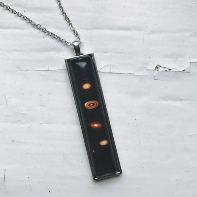Exoplanets Rectangular Necklace - The Foxtrot Clothing