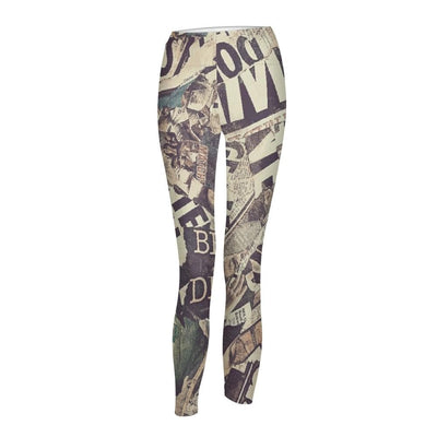Newspaper Women's Yoga Pant - The Foxtrot Clothing
