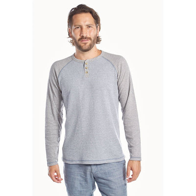 Tom Thermal Raglan Henley- The Foxtrot Clothing - The Foxtrot Clothing