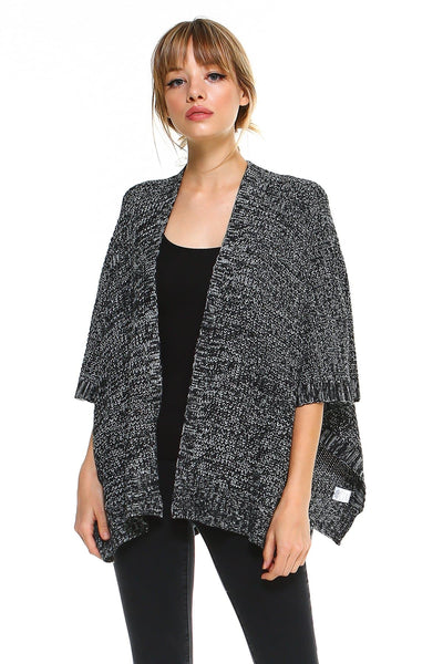 2 Tone Hanky Hem Cardigan - The Foxtrot Clothing