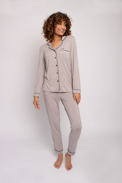 Bamboo Pajama Set in Mink- The Foxtrot Clothing - The Foxtrot Clothing