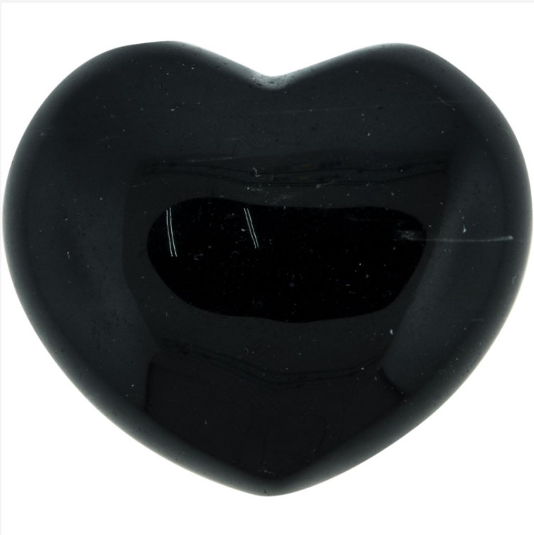 Black Obsidian Puffy Gemstone Heart