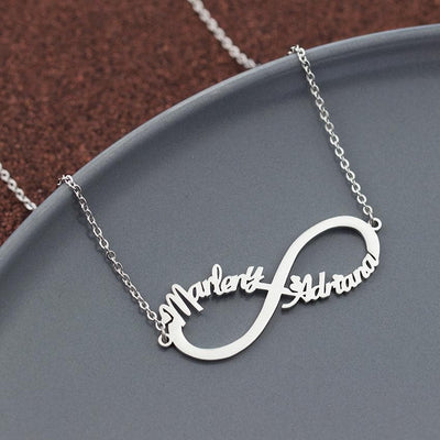 Customized Infinity Name Necklace Personalized- The Foxtrot Clothing - The Foxtrot Clothing