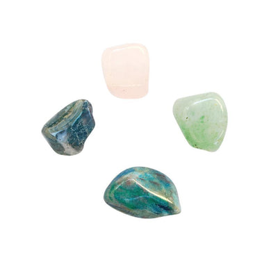 Healing the Heart * Aventurine, Rose Quartz, Moss Agate & Chrysocolla - The Foxtrot Clothing