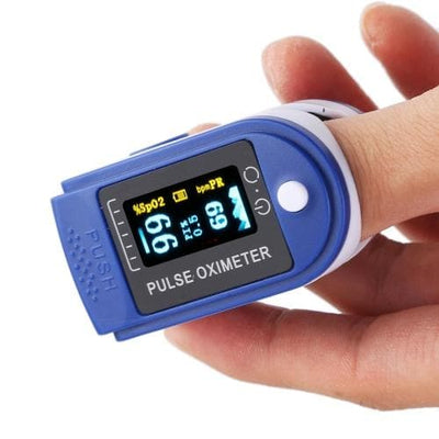 Fingertip Pulse Oximeter, Blue, Sold Individually- Same Day Shipping - The Foxtrot Clothing