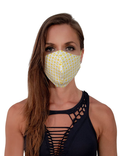 Face Mask Dots Yellow - The Foxtrot Clothing