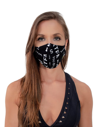 Face Mask You By You Black - The Foxtrot Clothing