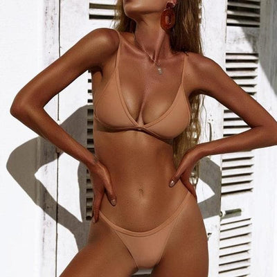 New Arrival Women Bandeau Bandage Bikini Set-The Foxtrot Clothing - The Foxtrot Clothing