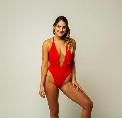 Guaraná One Piece - Cherry Red-The Foxtrot Clothing - The Foxtrot Clothing