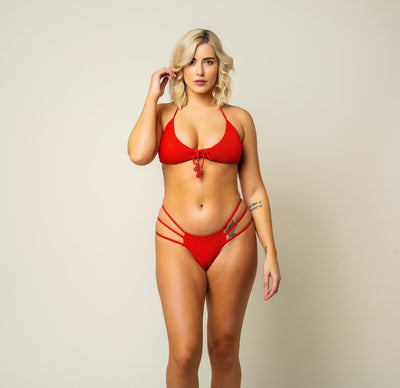 Orchid Bottom - Cherry Red- The Foxtrot Clothing - The Foxtrot Clothing
