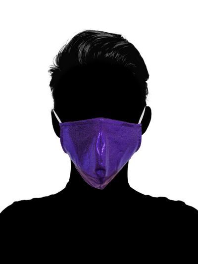 Royal Purple Facemask Cover - The Foxtrot Clothing