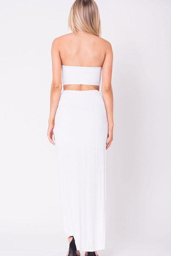 DRAPED SOLID MAXI SKIRT - The Foxtrot Clothing