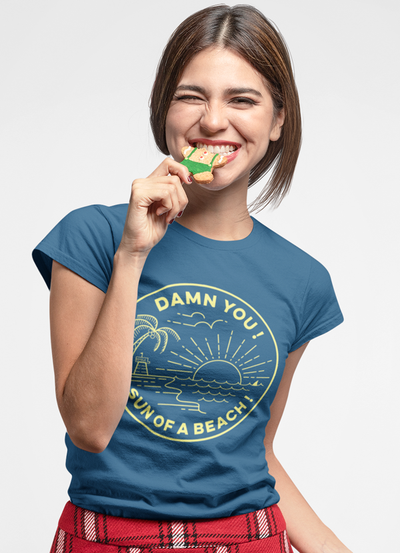 Sun Of Beach Women T-shirt - The Foxtrot Clothing