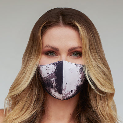 White Tie Dye Face Mask - The Foxtrot Clothing