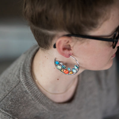 Solar System Hoop Earrings - The Foxtrot Clothing