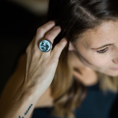 Interchangeable Moon Phase Ring - The Foxtrot Clothing