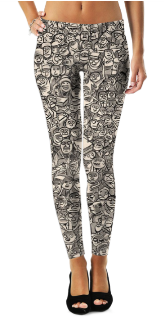 Abstract Pattren (29) Legging - The Foxtrot Clothing