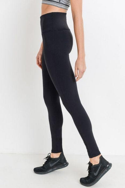 Highwaist Essential Solid Leggings - The Foxtrot Clothing