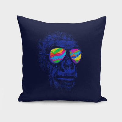 Blue Gorilla Cushion/Pillow- The Foxtrot Clothing - The Foxtrot Clothing