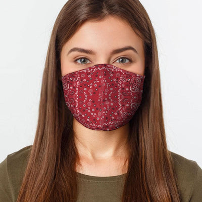 Red Bandana Face Cover - The Foxtrot Clothing