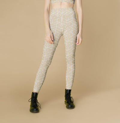 Nude Geometry Leggings, Capris and Shorts - The Foxtrot Clothing