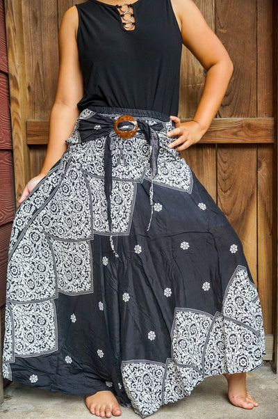 Boho Skirt, Hippie Skirl, Gypsy Skirt - The Foxtrot Clothing