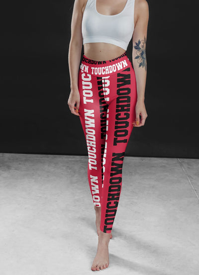 Superbowl Touchdown Leggings, Capris and Shorts - The Foxtrot Clothing