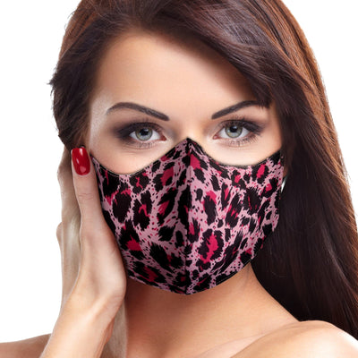 Pink Cheetah Face Mask - The Foxtrot Clothing