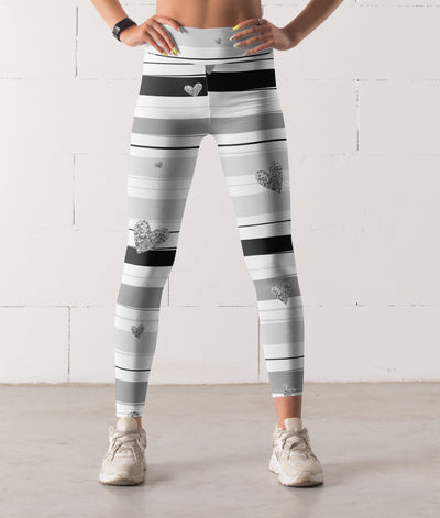 Valentine's Day Julia Silver Leggings - The Foxtrot Clothing