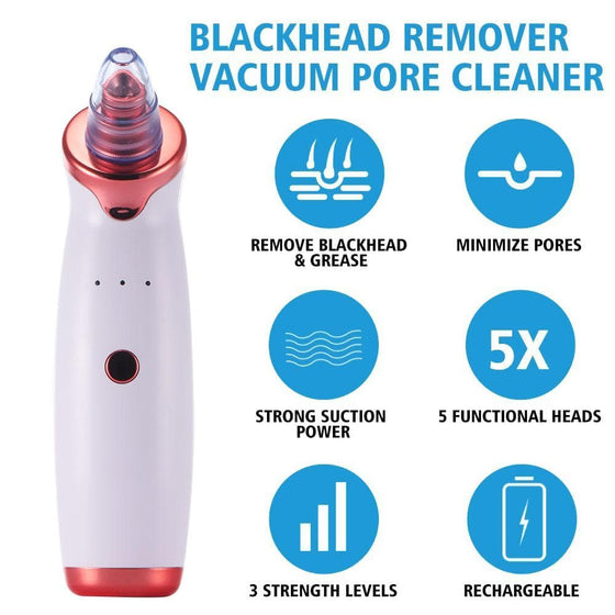 Electric Acne Remover Blackhead Remover Apparatus - The Foxtrot Clothing