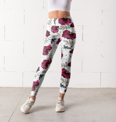 Floral leggings, Capris and Shorts - The Foxtrot Clothing
