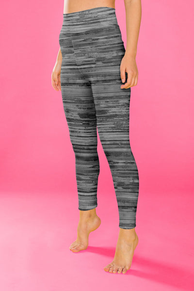 Gray Heathered Leggings, Capris, Shorts - The Foxtrot Clothing