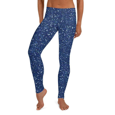 Blue Glitter leggings, Capris and Shorts - The Foxtrot Clothing