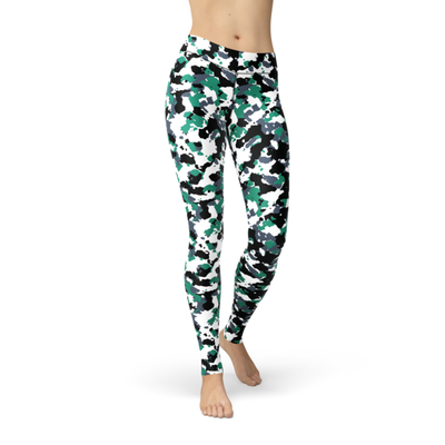 Jean Green White Camo - The Foxtrot Clothing