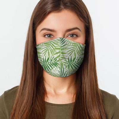 Palm Leaves Face Cover - The Foxtrot Clothing
