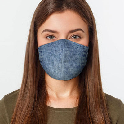 Denim Style Face Cover - The Foxtrot Clothing