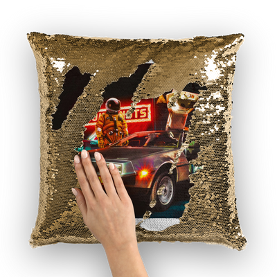 237am Sequin Cushion Cover- The Foxtrot Clothing - The Foxtrot Clothing