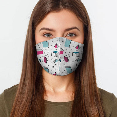 Geometric Shape Face Cover - The Foxtrot Clothing