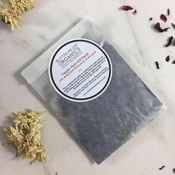 VEGAN activated charcoal peel off mask - The Foxtrot Clothing