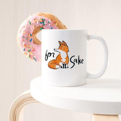For Fox Sake - Ceramic Coffee Mug - Fox Coffee - The Foxtrot Clothing