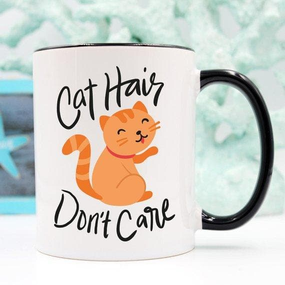 Crazy Cat Lady Coffee Mug - Cat Hair Don't Care -