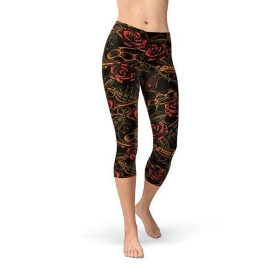 Womens Badass Capri Leggings - The Foxtrot Clothing