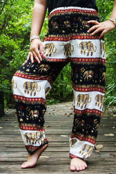 Black ELEPHANT Pants Women Harem Pants Boho Pants- The Foxtrot - The Foxtrot Clothing