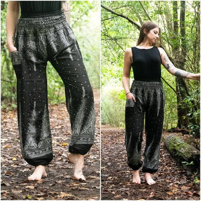 PEACOCK Women Harem Pants Boho Pants Hippie Pants- The Foxtrot - The Foxtrot Clothing