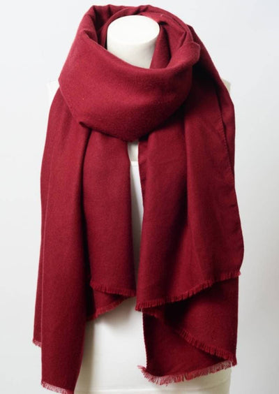 Burgundy Blanket Scarf - The Foxtrot Clothing