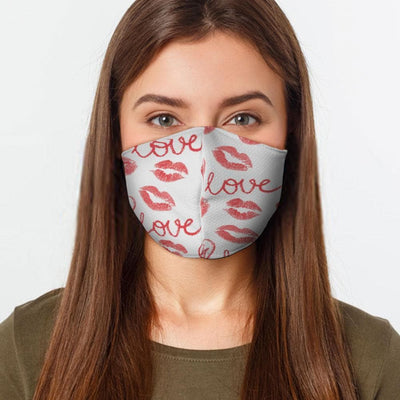 Love Kisses Face Cover - The Foxtrot Clothing