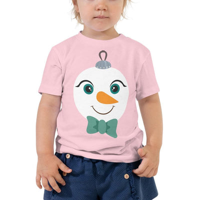 Kritter Christmas Snowman Ornament Toddler T-shirt - The Foxtrot Clothing