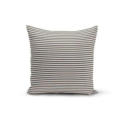 Black Cream Pinstripe Pillow Cover- The Foxtrot Clothing - The Foxtrot Clothing