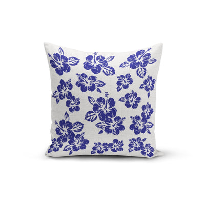 Blue Hibiscus Pillow Cover- The Foxtrot Clothing - The Foxtrot Clothing